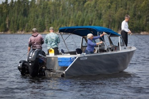 Bowrider Walleye Fishing