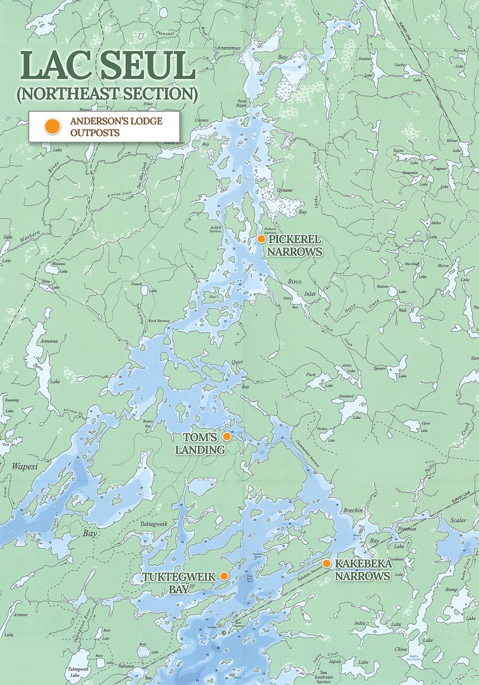 Lac Seul Outposts Map
