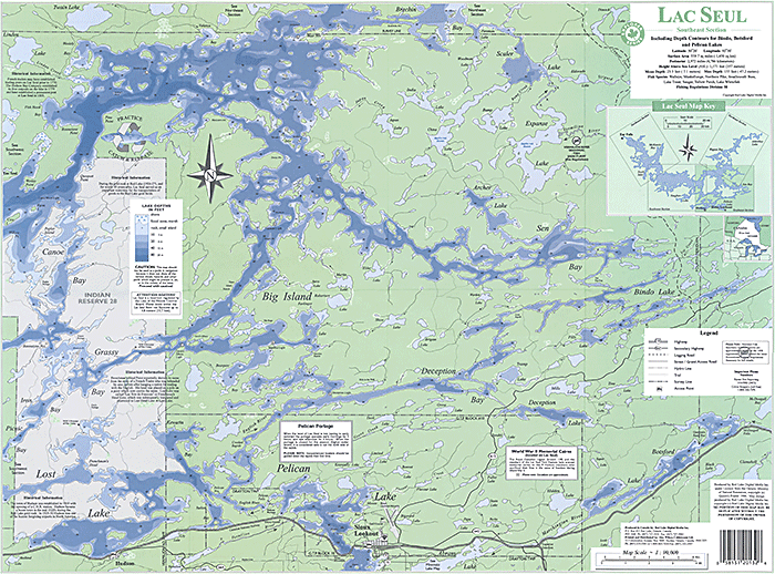 Lake maps anderson 39 s lodge for Lac seul fishing
