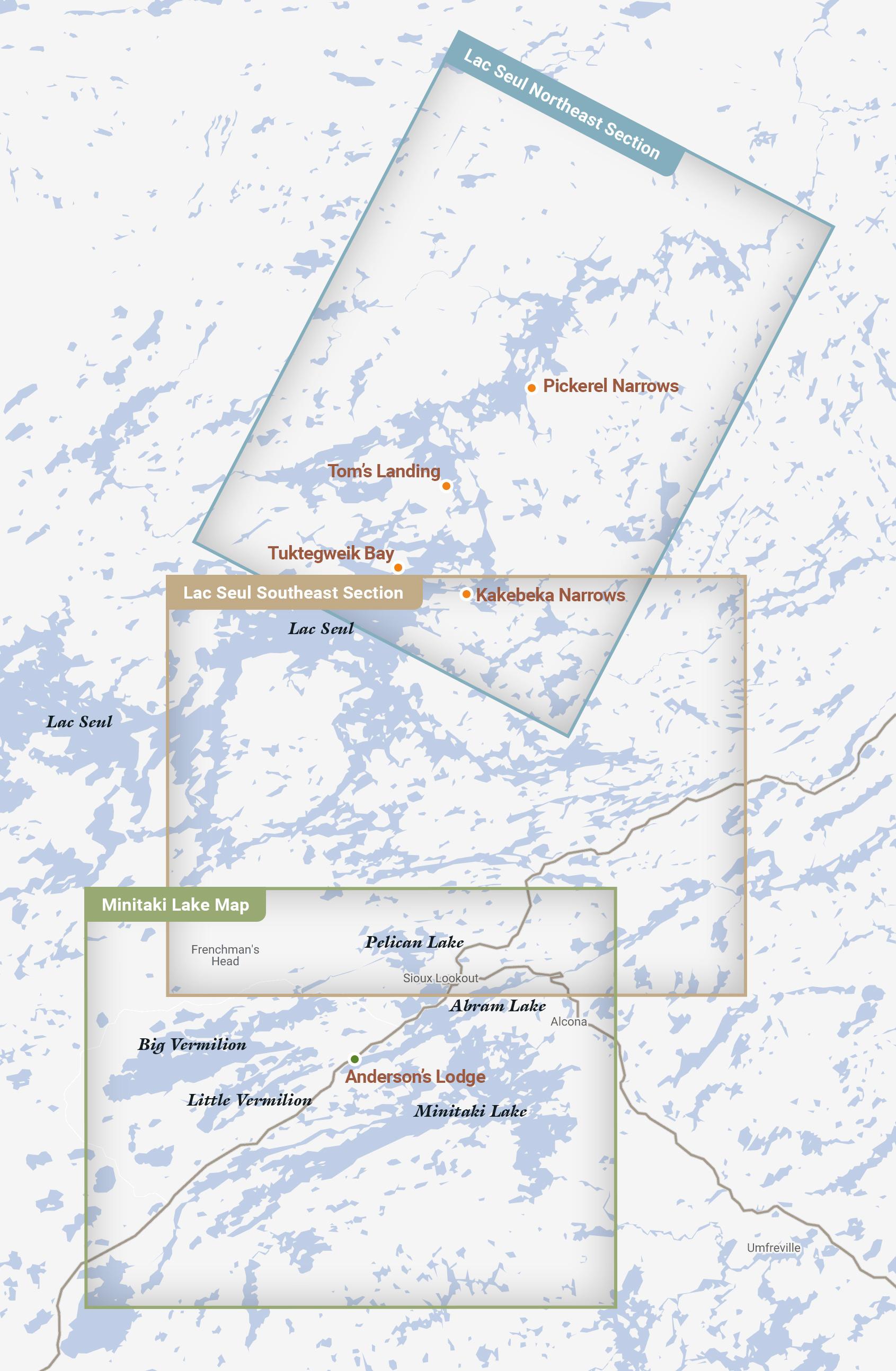 Ontario Lake Map