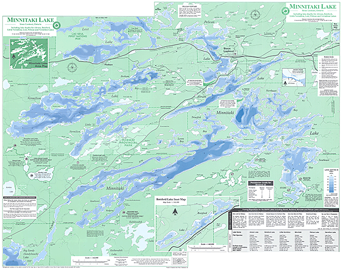 Minitaki Lake Map