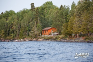 Cabin View From Lake