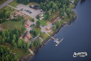 birdseye view of Anderson's Lodge
